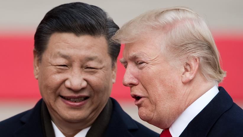 China und USA: Chinas KP-Chef Xi Jinping (l.) und US-Präsident Donald Trump, 2017 in Peking