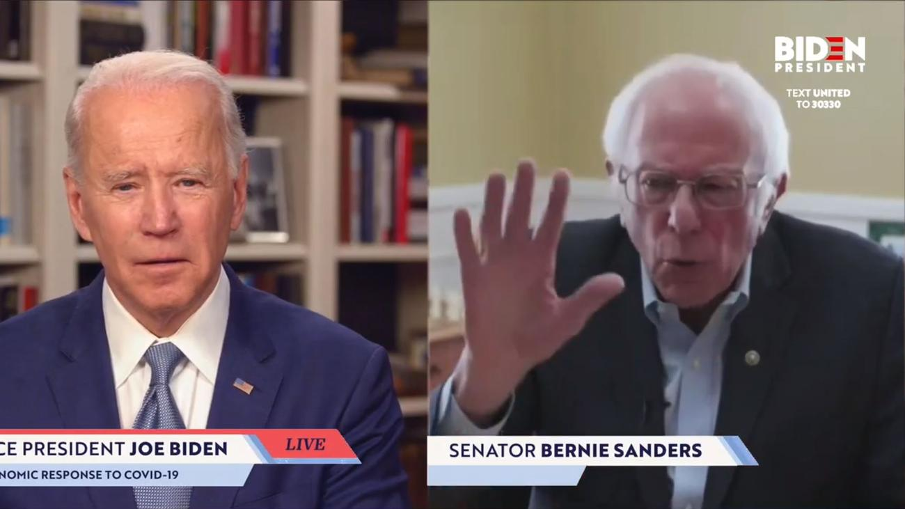 US-Präsidentschaftswahl: Bernie Sanders unterstützt Joe Biden