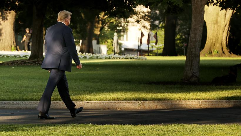 Donald Trump: Donald Trump auf dem Weg ins Weiße Haus in Washington