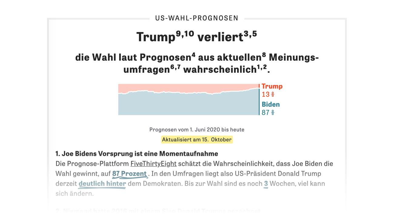 Usa Wahl Prognose