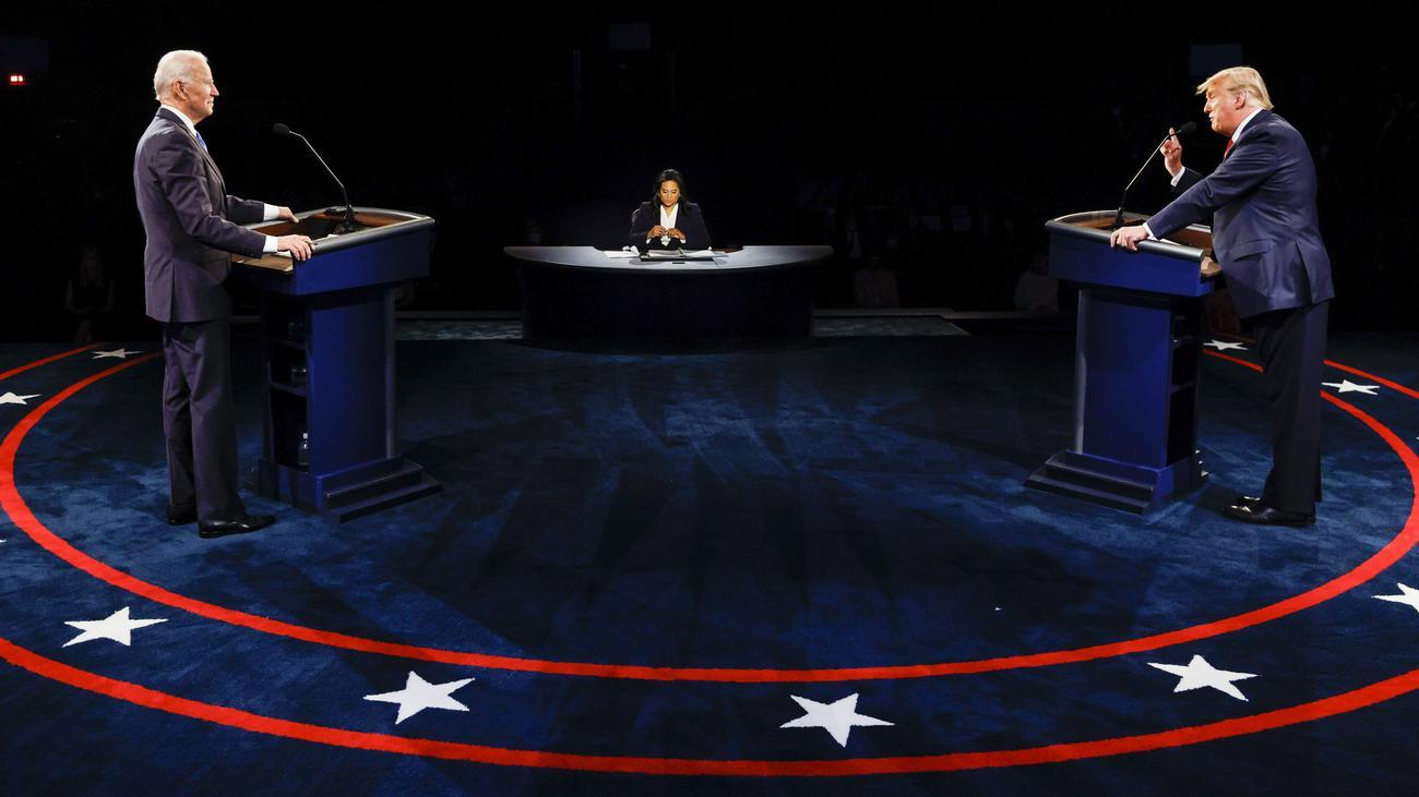 Donald Trump und Joe Biden liefern sich sachliches TV-Duell