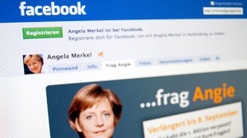 """Online-Wahlkampf: 15.000 """"Friends"""" hat Angela Merkel auf Facebook. Frank-Walter Steinmeier kommt auf 5.400."""
