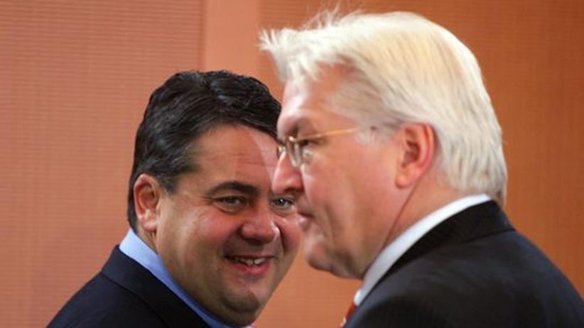 SPD-Vorsitz : Heimliche Rivalen um den Parteivorsitz? Sigmar Gabriel und Frank-Walter Steinmeier