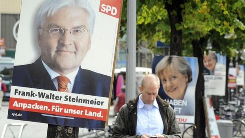 TV-Duell: Kandidat Steinmeier und und Kanzlerin Merkel: Heute treffen sie im TV-Duell aufeinander