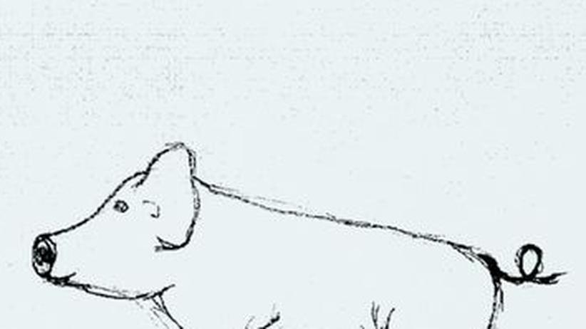 Der zeichnende Kandidat: Steinmeiers Glücksschwein