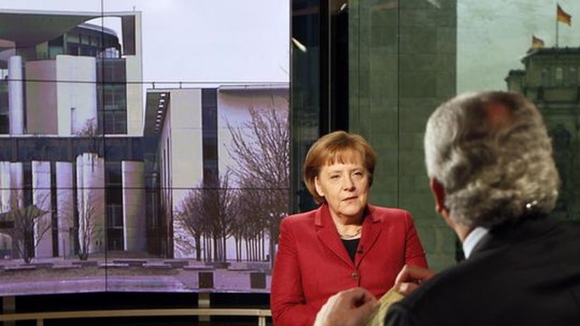 Bundeskanzlerin Angela Merkel (CDU) im ARD-Interview