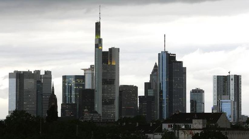 Die Skyline des Bankenviertels von Frankfurt (Main)
