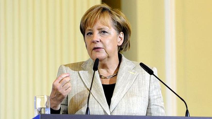 Finanzmarktsteuer: Werben für eine Finanzmarktsteuer – international ist diese aber wohl kaum durchsetzbar: Kanzlerin Merkel auf der Finanzmarktkonferenz in Berlin