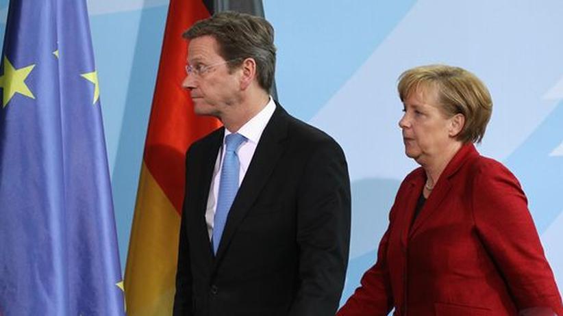 Westerwelle Merkel