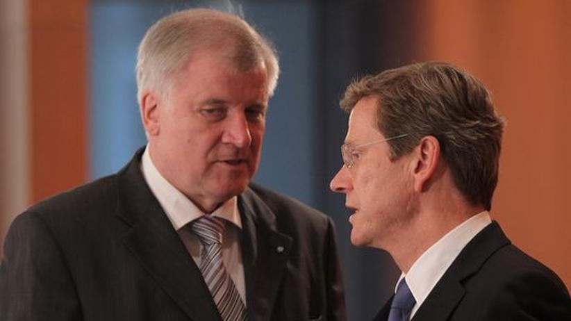 Horste Seehofer (l.) und Guido Westerwelle