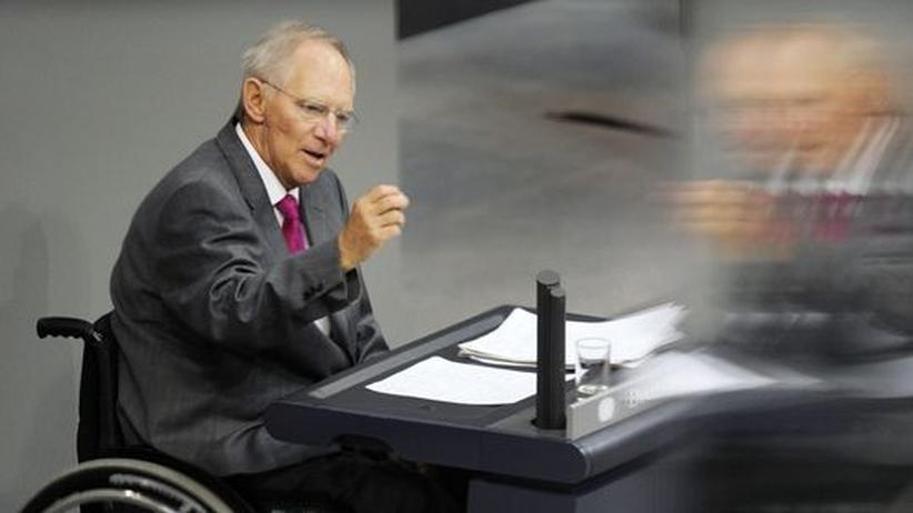 Haushaltsberatungen: Schäuble will trotz Aufschwungs sparen