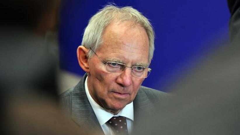 Euro-Krise: Finanzminister Wolfgang Schäuble bei einem Treffen der Eurogruppe in Brüssel