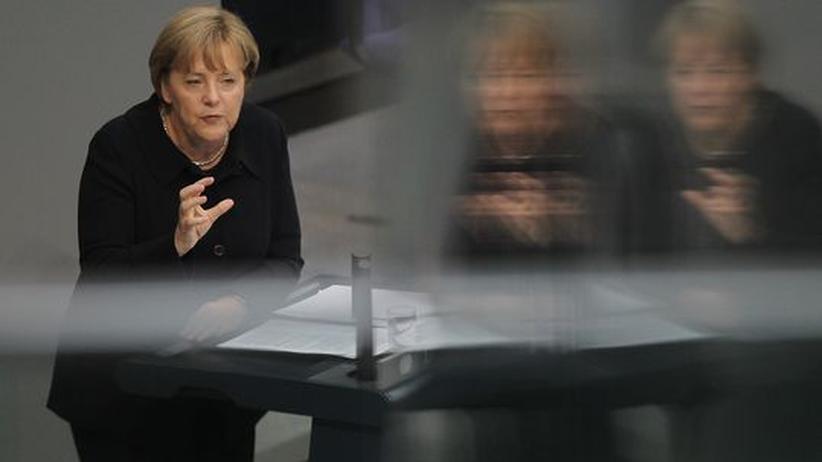 Griechenland-Äußerungen: Bundeskanzlerin Angela Merkel im Bundestag