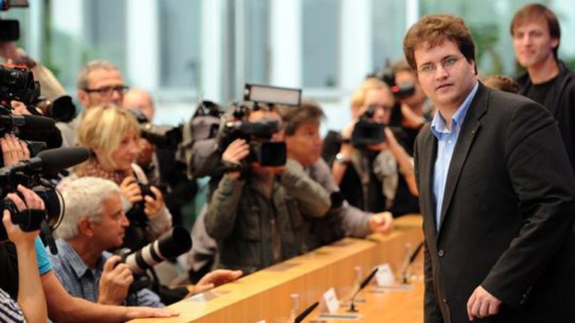 Piratenpartei: Sebastian Nerz auf einer Pressekonferenz