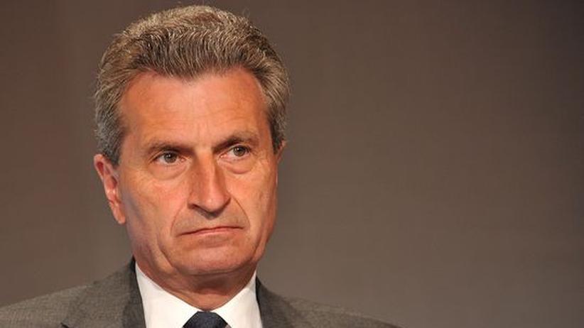 Europäische Union: Oettinger spekuliert über Wechsel von Merkel nach Brüssel