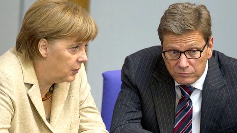 Euro-Krise: Merkel und Westerwelle uneinig über Griechenland-Ziele