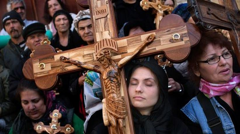 Orthodoxe Christen in Jerusalems Altstadt