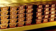 Goldbarren in einem Safe der Deutschen Bundesbank