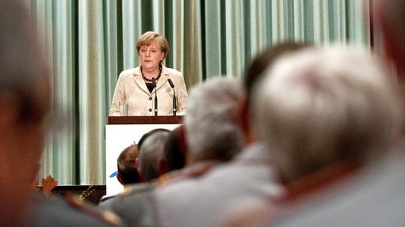 Verteidigungspolitik: Merkel verteidigt Waffenexporte als Mittel zur Friedenssicherung