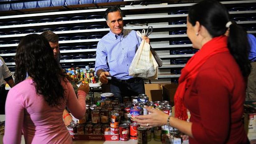 Wirbelsturm Sandy: Mitt Romney in Ohio beim Spendensammeln für die durch Sandy Geschädigten