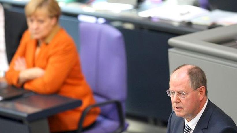 Merkel-Steinbrück: Zweikampf um das richtige Europa