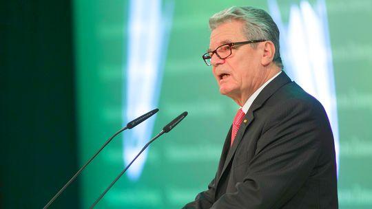 """""""Verantwortlicher Kapitalismus ist möglich"""": Bundespräsident Joachim Gauck spricht beim """"Führungstreffen Wirtschaft 2012"""" in München."""