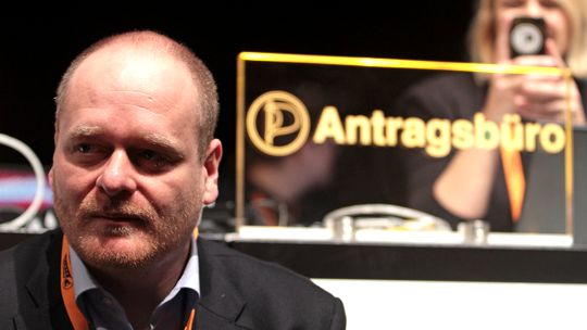 Bernd Schlömer auf dem Parteitag der Piratenpartei in Bochum