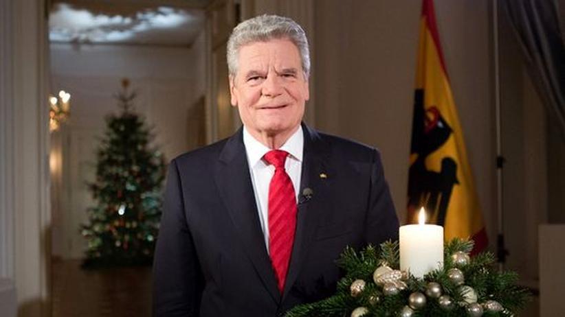 Weihnachtsansprache: Gauck fordert mehr Solidarität