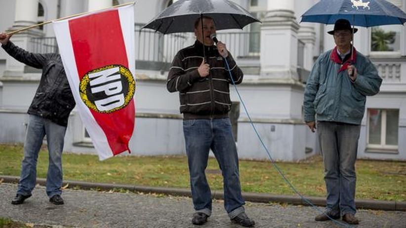 Rechtsextremismus: Anhänger der NPD in Potsdam (Archiv)