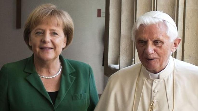 """Merkel zu Benedikt: """"Als Bundeskanzlerin sage ich Danke"""""""