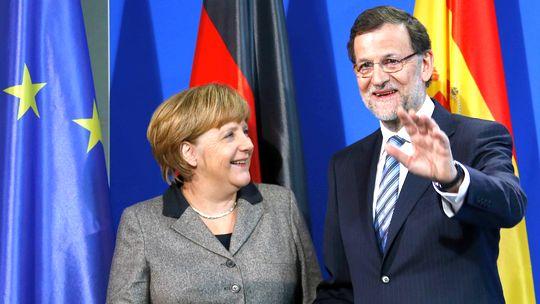 Bundeskanzlerin Angela Merkel und Spaniens Premier Mariano Rajoy