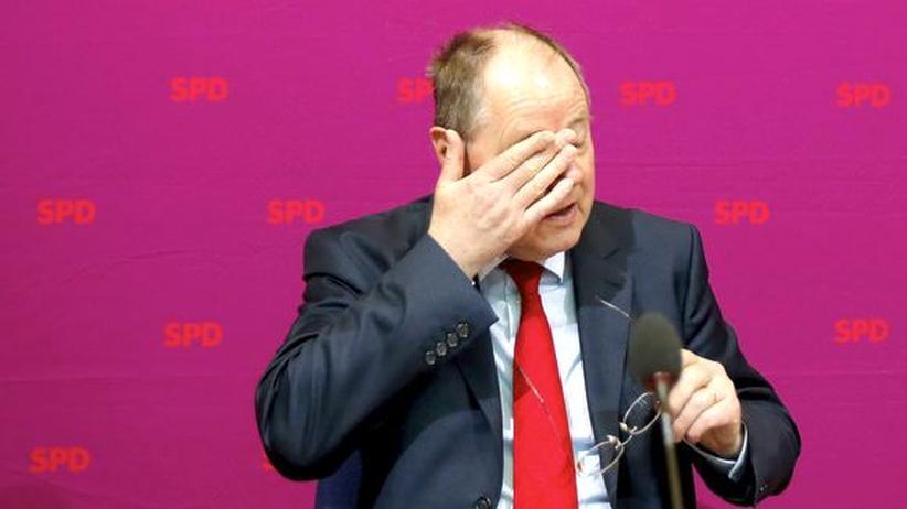 Steinbrück: Ist er am Ende der falsche Kandidat? Peer Steinbrück bei einer Parteiveranstaltung in Berlin