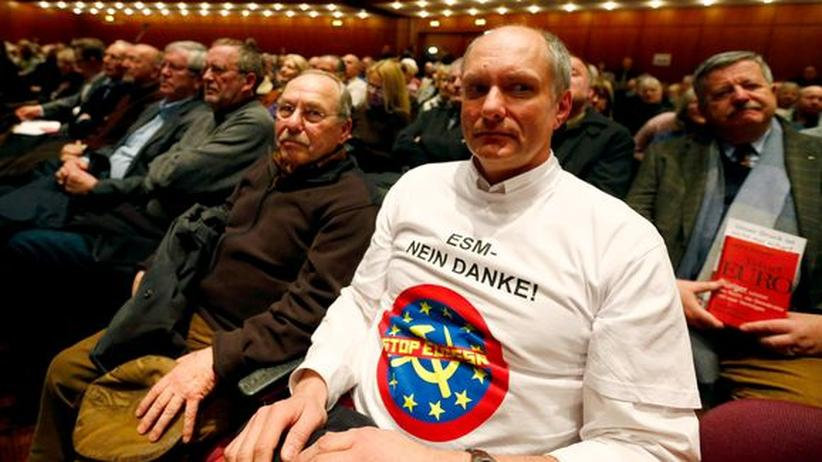 """Euro-Krise: Unterstützer der Anti-Euro-Partei """"Alternative für Deutschland"""""""