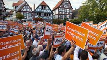 Wahlkampf der Hessen-CDU in Seligenstadt