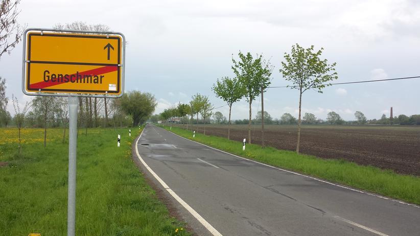 Der Ortsausgang der Gemeinde Genschmar im Oderbruch