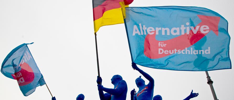 AfD-Anhänger vor der Europawahl in Berlin