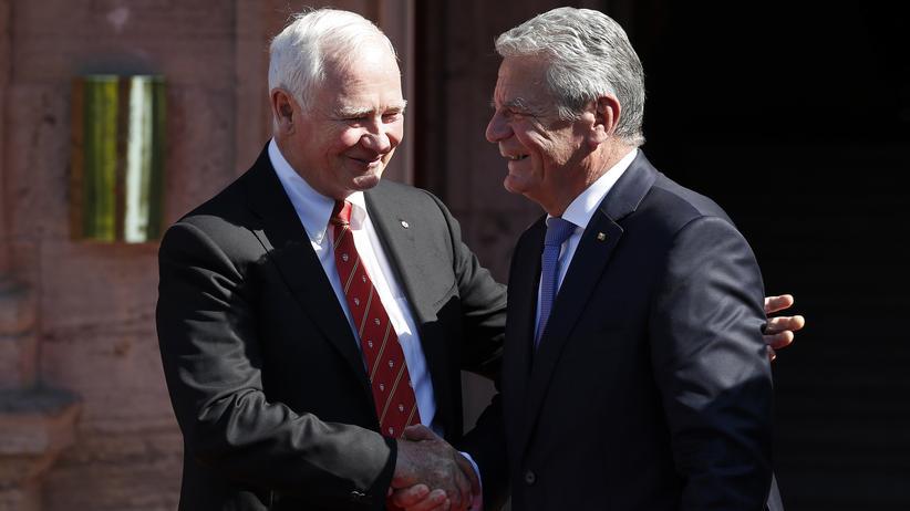 CETA: Bundespräsident Joachim Gauck und der kanadische Generalgouverneur David Johnston