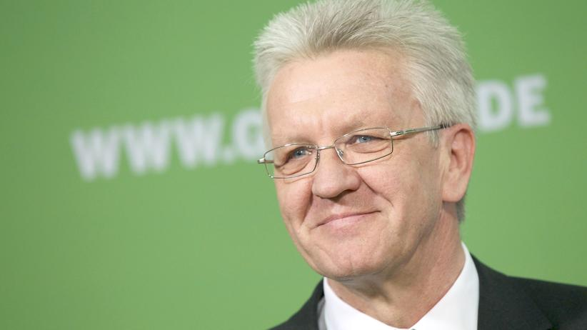 Der Ministerpräsident Baden-Württembergs Winfried Kretschmann (Grüne)