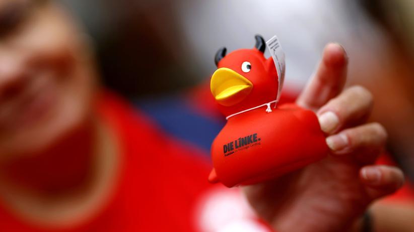 Linkspartei: Ein teuflische Plastikente der thüringischen Linkspartei