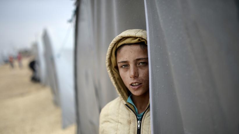 Asyl: Ein kurdischer Junge im Rojova Camp in Suruç, an der türkisch-syrischen Grenze
