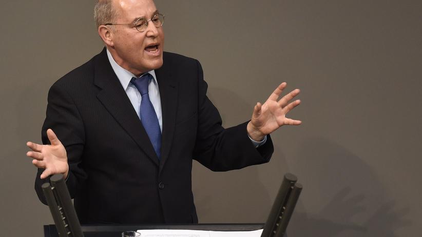 Gregor Gysi bei seiner Rede im Bundestag zur Griechenland-Hilfe