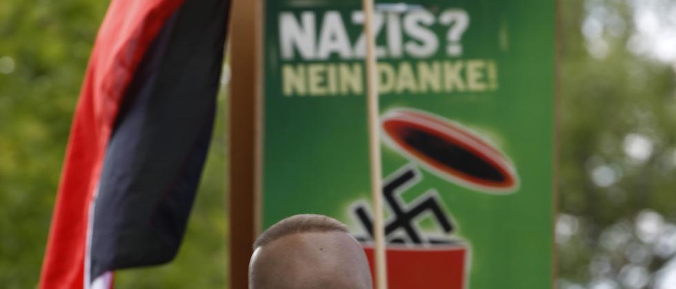 Neonazis auf einer Demonstration in Dortmund (Archiv)
