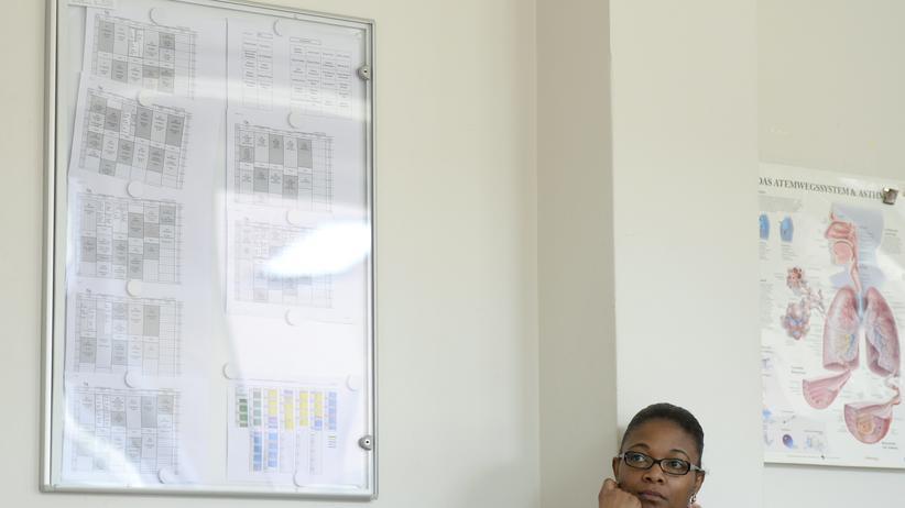 Zuwanderung: Eine Frau aus Kamerun in einem Integrationskurs in Nürnberg