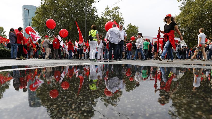 Tarifeinheit: Protestaktion des Deutschen Gewerkschaftsbundes