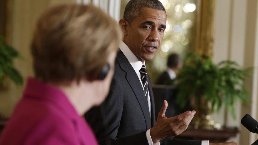 Geheimdienstaffäre: US-Präsident Barack Obama mit Kanzlerin Angela Merkel im Februar in Washington.