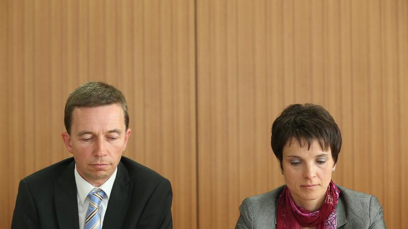 AfD: AfD-Gründer Bernd Lucke und die Co-Vorsitzende Frauke Petry