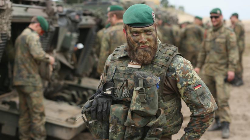 Ukraine-Konflikt: Ein Bundeswehrsoldat während eines Nato-Manövers in Polen