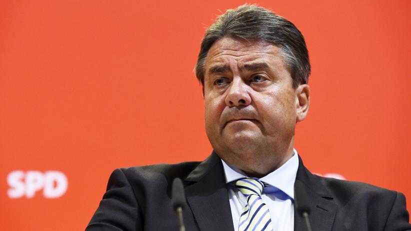 SPD: Sigmar Gabriel bei einer Pressekonferenz in Berlin (Archivbild)