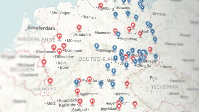 Flüchtlinge: Karte der Gewalt