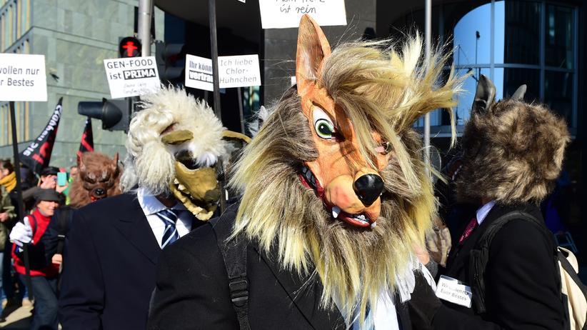 TTIP: Tierischer Protest auf der Demonstration gegen TTIP in Berlin